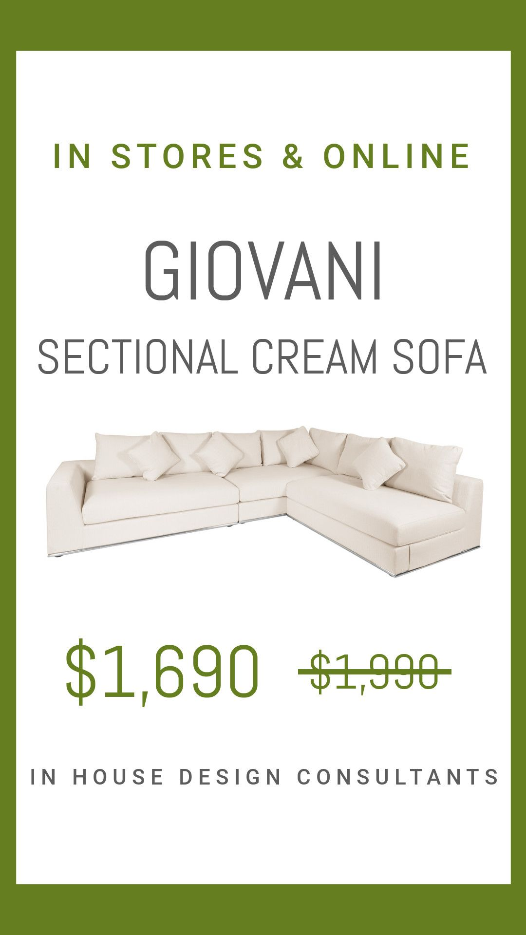 Giovani Sofa Cream Sale Cream Sofa Fabric Sofa Contemporary Sofa