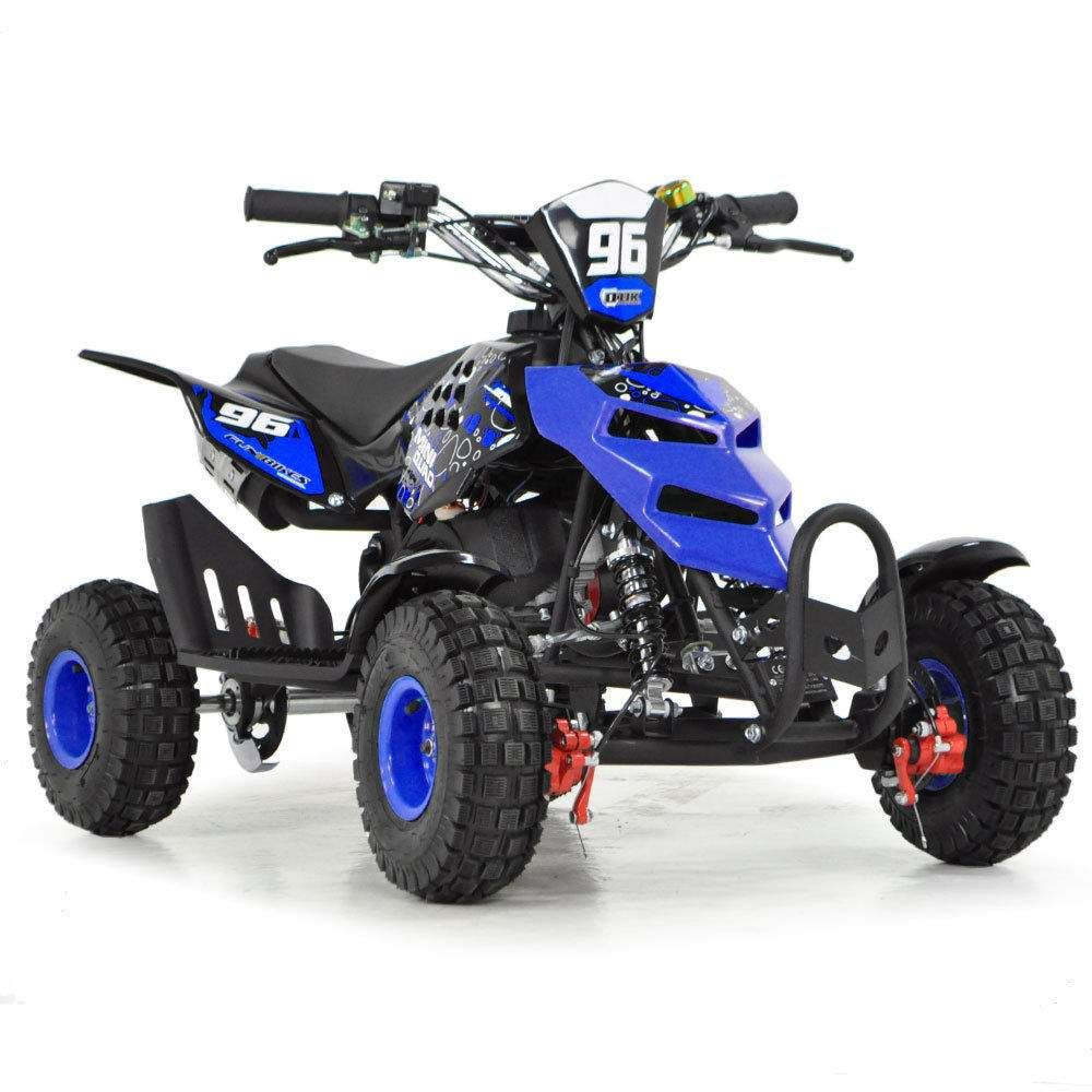 Toxic 50cc Blue Kids Petrol Mini Quad Bike Quads Motor