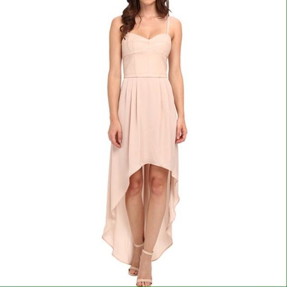 Hp Bcbg Maxazria High Low Gown Nwt Wrap Over Dress Leather Dress Women Dresses
