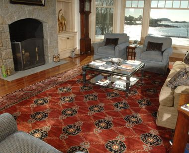 Spetacular setting to display this Tribal Persian rug. The colors ...