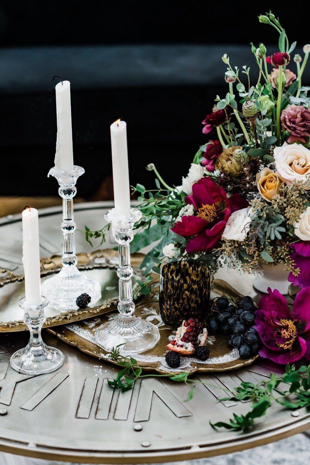 Moody berry santa barbara wedding shoot ruffled santa