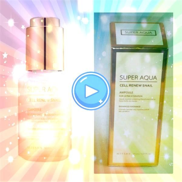Super Aqua Cell Renew Snail Ampoule 30ml Missha Super Aqua Cell Renew Snail Ampoule 30ml  A symbol of the strength women have when we do things together Elegant clasped h...