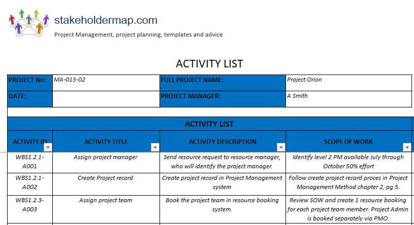activity list template in 2020 with images list of