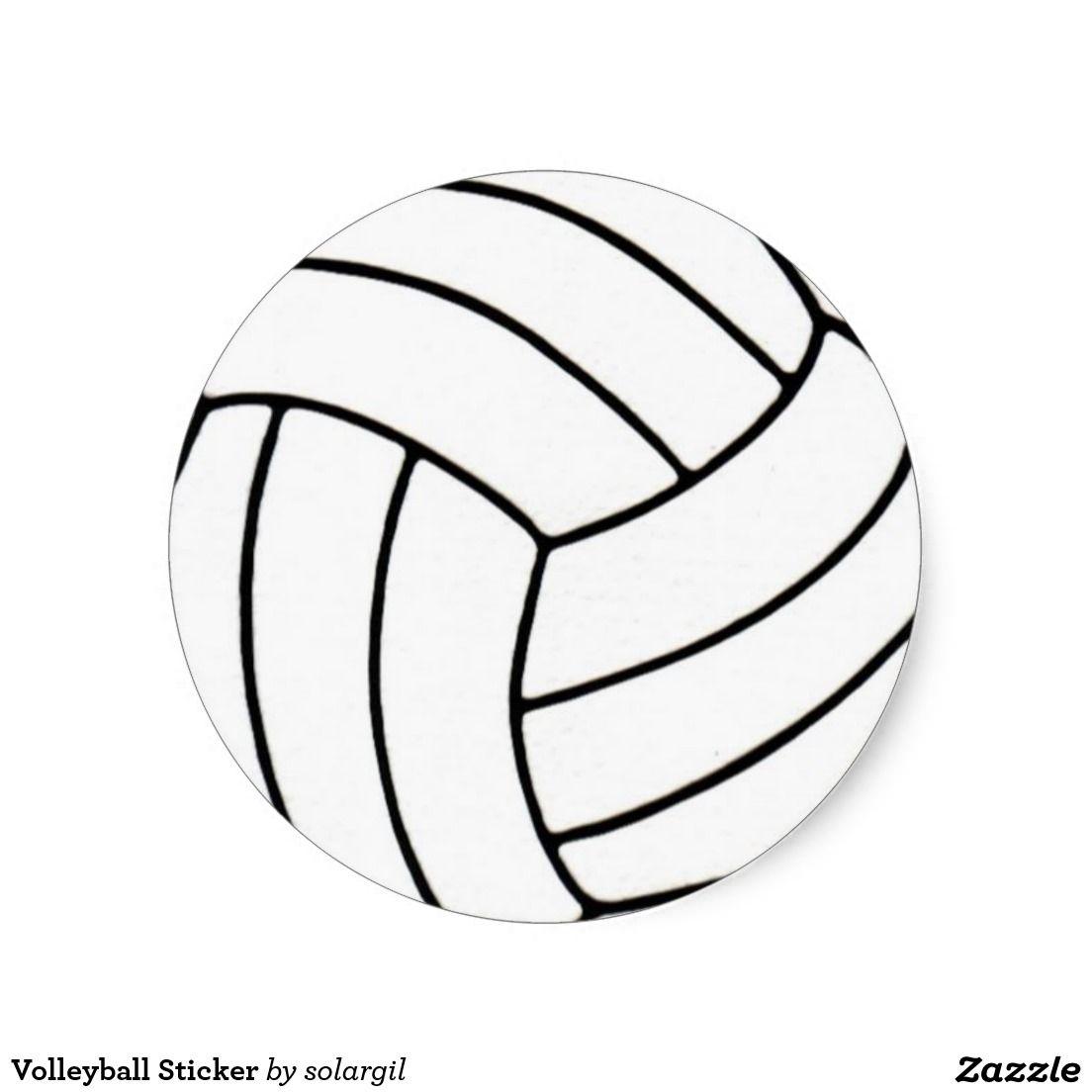 Volleyball Sticker Zazzle Com Volleyball Volleyball Gifts Mirror Stickers