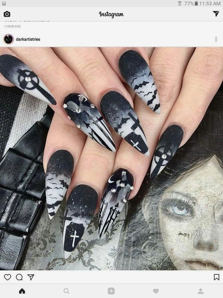 Halloween Nägel! - Nageldesign - #Halloween #Nägel # ...