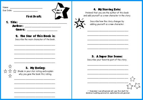 Writing A Book Report Template Projects to Try Pinterest Book
