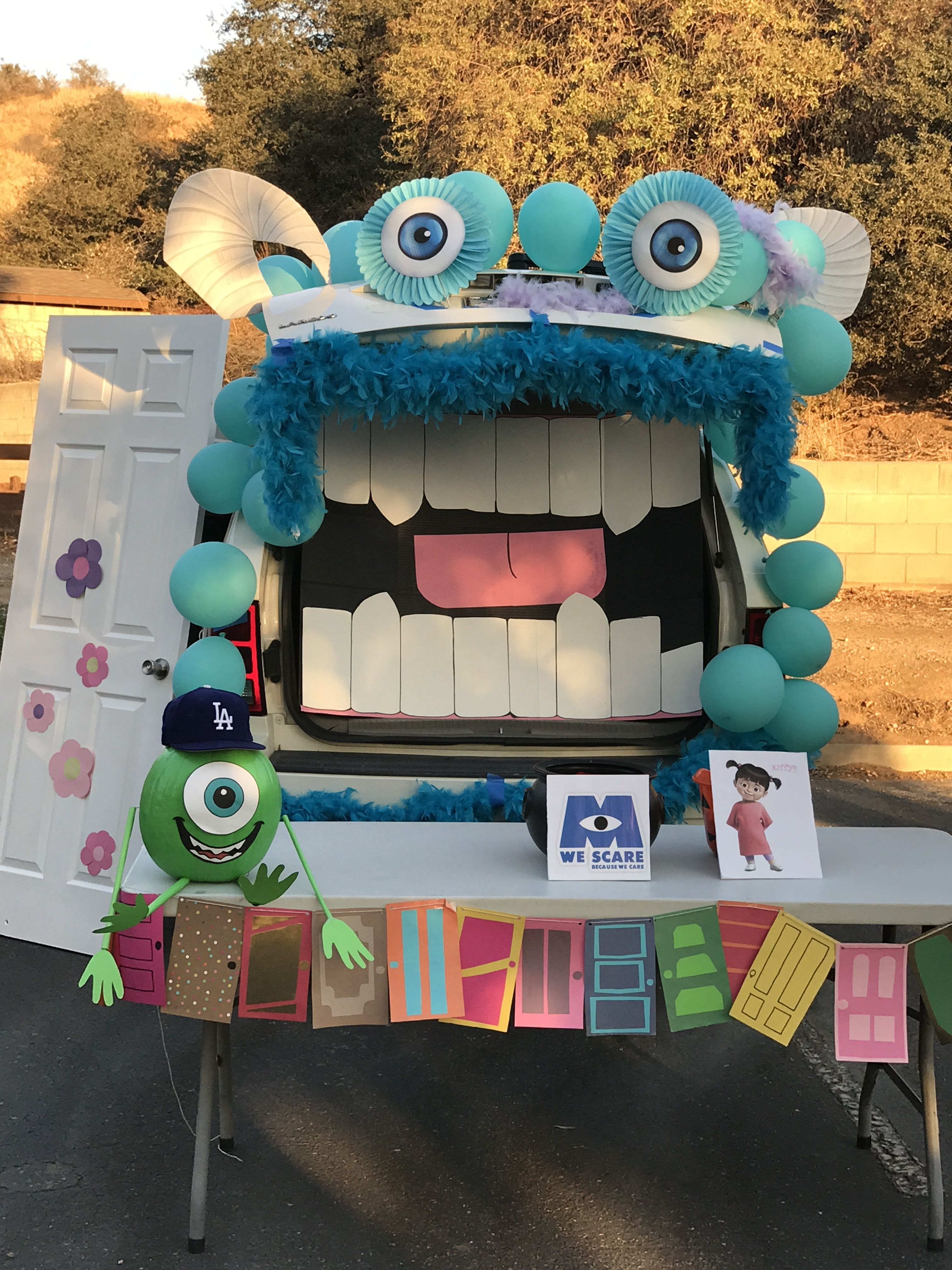 Trunk or treat Monsters Inc. #trunkortreatideasforcarsforchurch