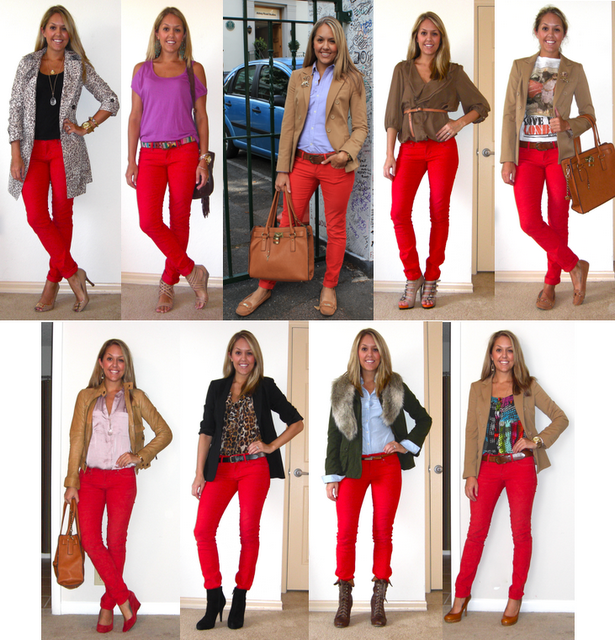 Flashback Friday  Red Pants   look for the woman in the dress, if ... f60e6d5556