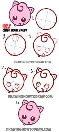How To Draw Cute Baby Chibi Jigglypuff From Pokemon In Easy Steps Tutorial How To Draw Step By Step Drawing Tutorials Pokemon Drawings Chibi Drawings Kawaii Drawings