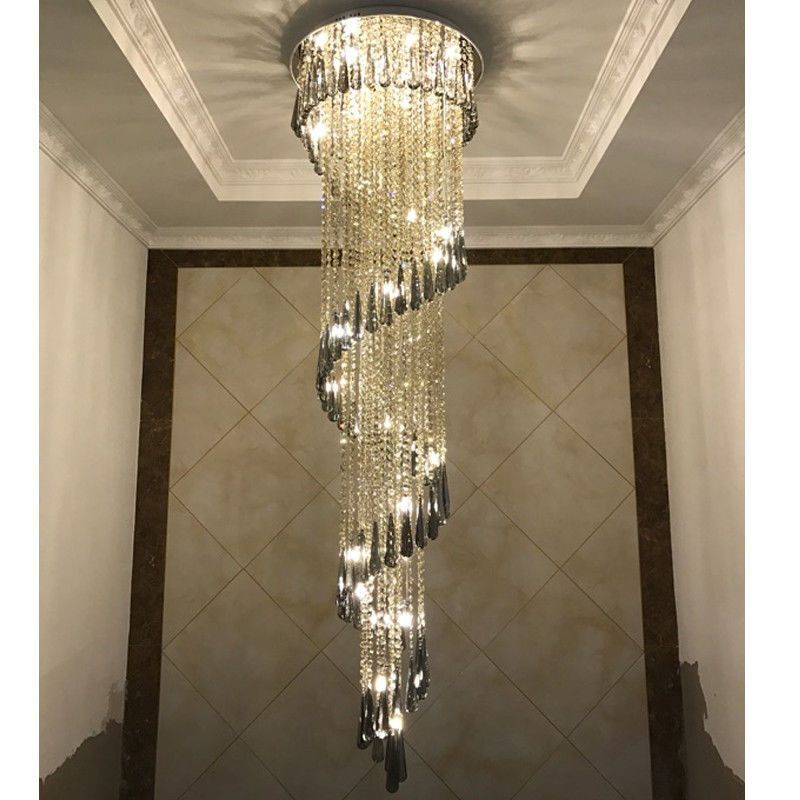 Details About Led Crystal Bead Ceiling Lamp Lighting Chandelier