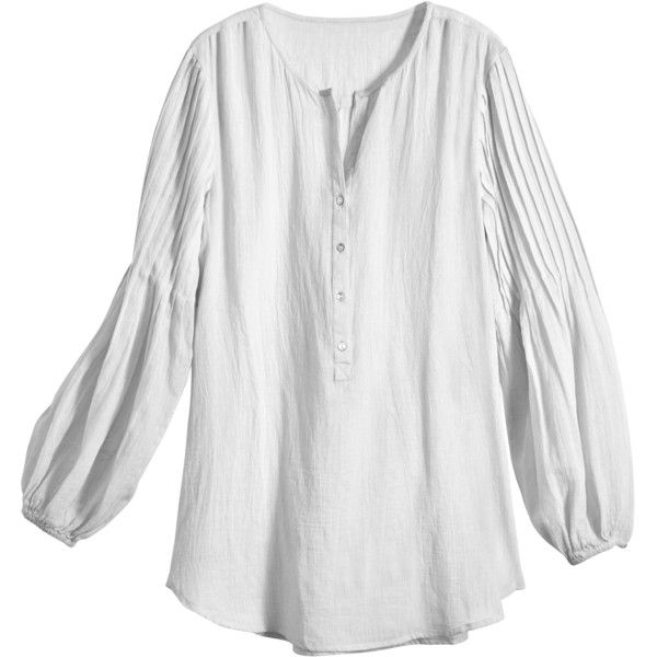 CALYPSO St. Barth Poet Cotton Gauze Top (£71) ❤ liked on Polyvore ... 53aeb59b37e7