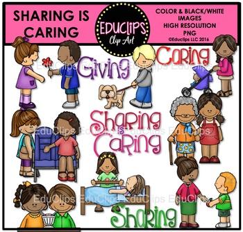 Sharing Is Caring Clip Art Bundle Educlips Clipart Art Bundle Clip Art Caring