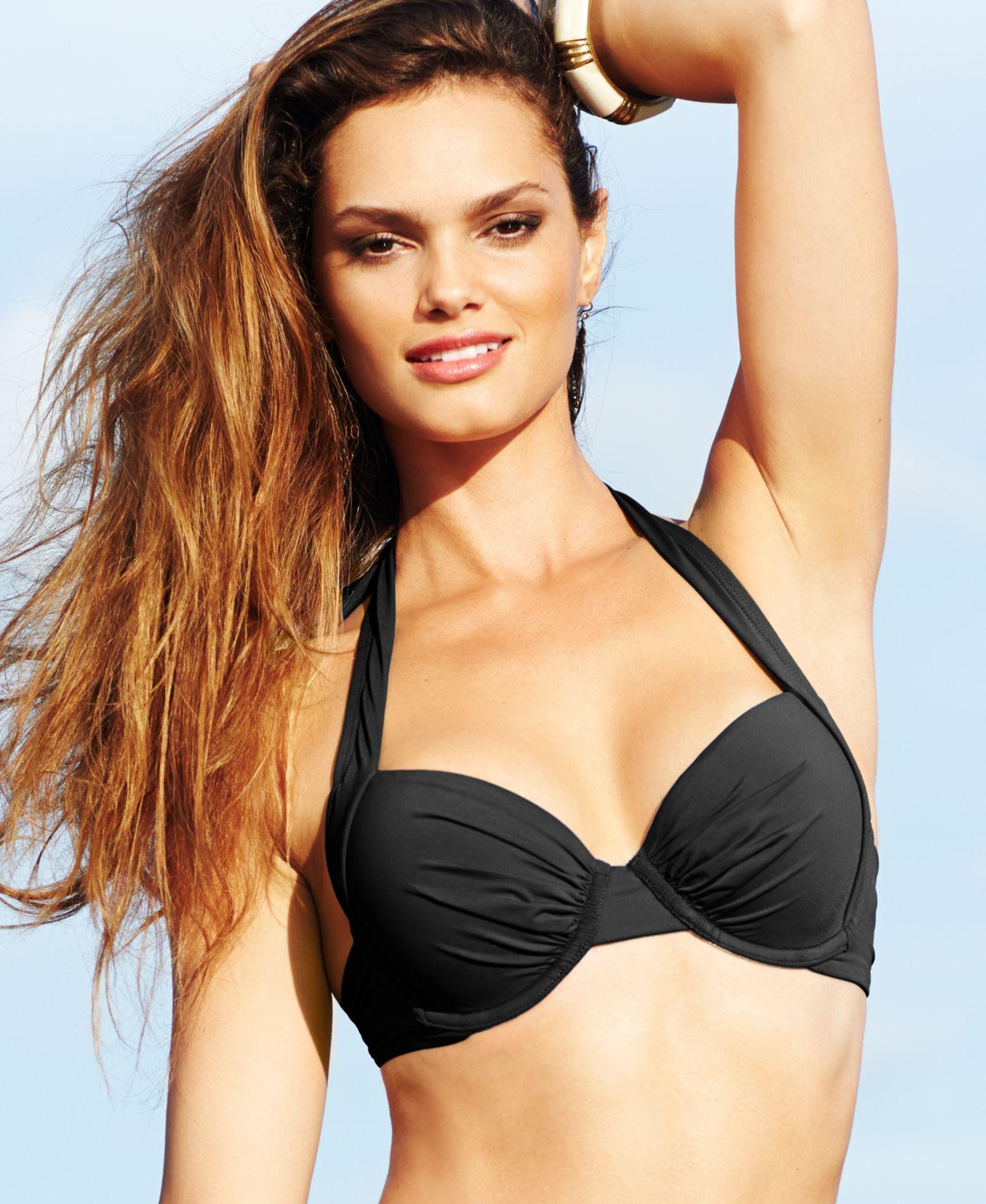 dbcb1a16a0 Tommy Bahama Underwire Halter Bikini Top   Products   Bikini tops ...