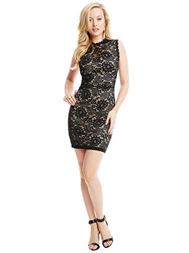 Guess by Marciano Taylor Lace Dress in Black - http://www.womansindex