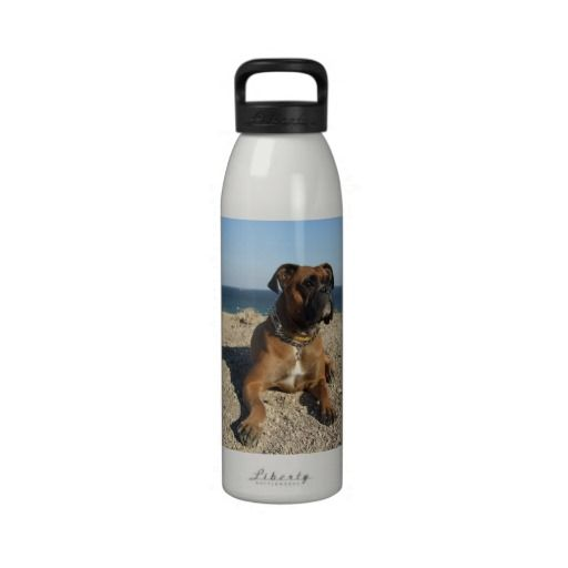 Cute Boxer Dog  Water Bottle