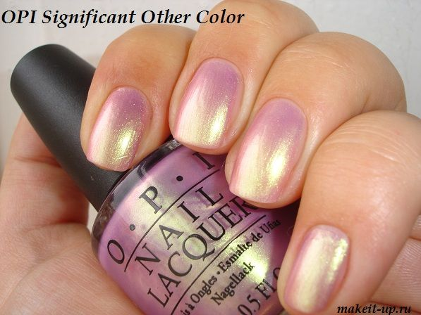 OPI : significant other color-Not sure how this would look with my ...