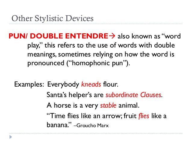 Pundouble Entendre Literary Devices Pinterest Double Entendre