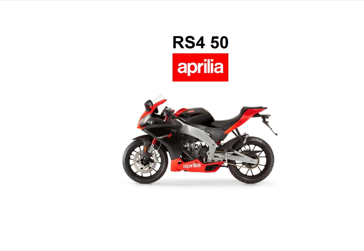 Aprilia RS4 50 2011 Owner's Manual has been published on