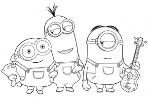 graphic about Printable Minion Coloring Page titled 25 Printable Minions Recreation/Coloring Webpages laptop or computer artwork