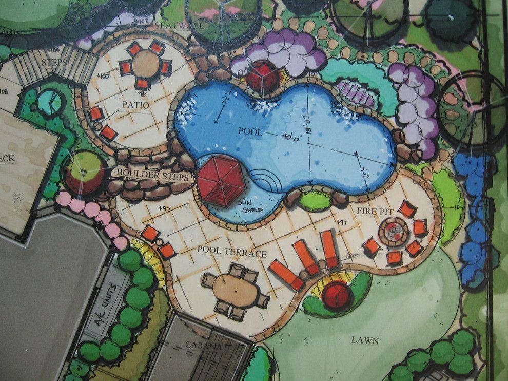 Conceptual Pool Plan   Traditional   Pool   Atlanta   Elements Landscape  LLC. Landscape Design
