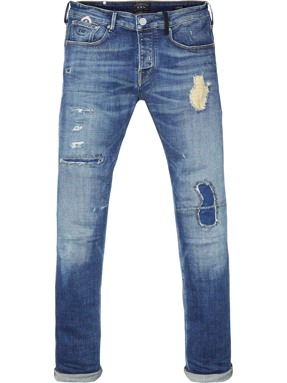 Scotch /& Soda Men/'s Slim Fit Jeans Trousers Ralston Blue New