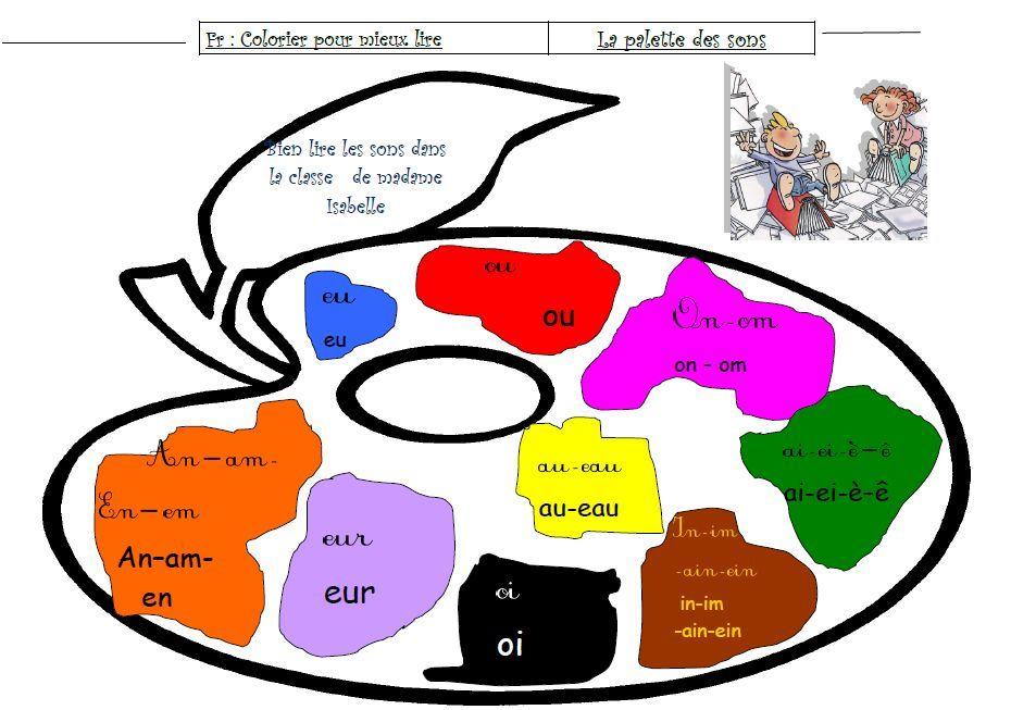 Lire avec les couleurs la palette des sons dys moi - Palette chromatique des couleurs ...