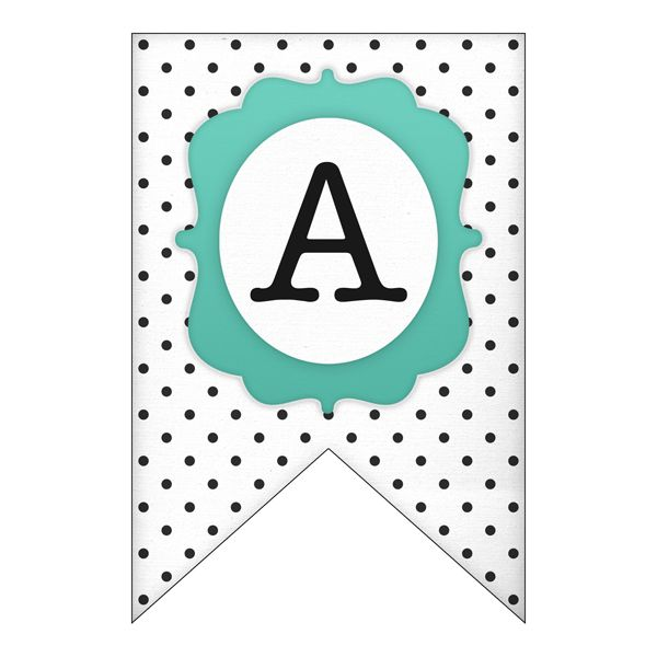 Free Printable Letter Banners | Printable letters, Alphabet and ...
