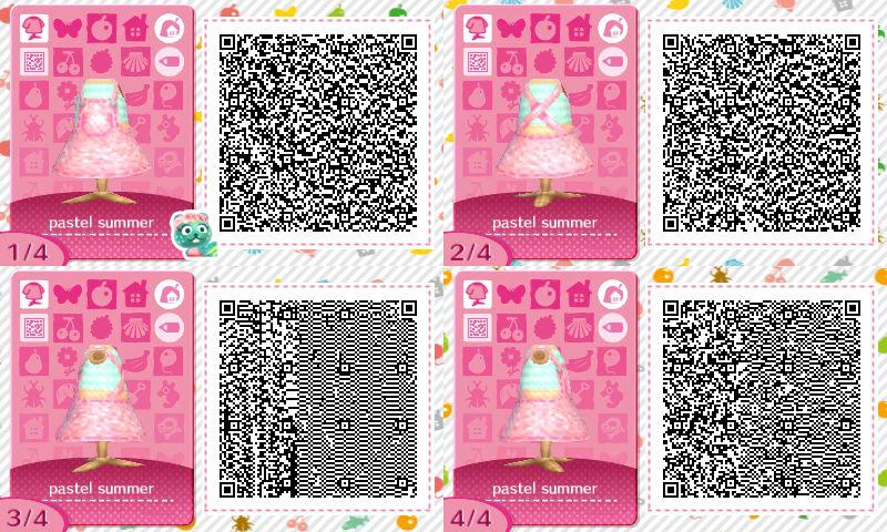 pastel summer dresses animal crossing acnl qr codes