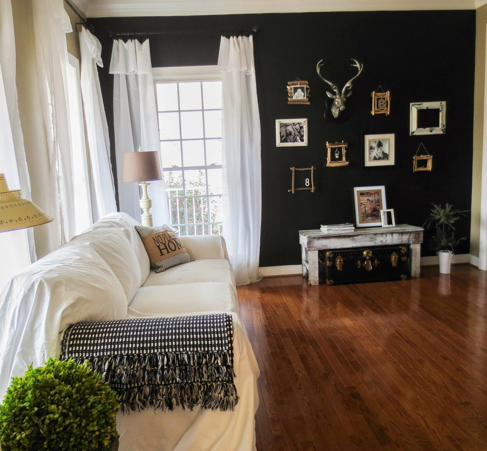 Black Accent Wall At Down To Earth Style