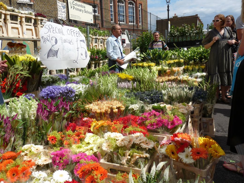 The Very Best Food Markets In London Columbia Road Flower Market London Market Flower Market