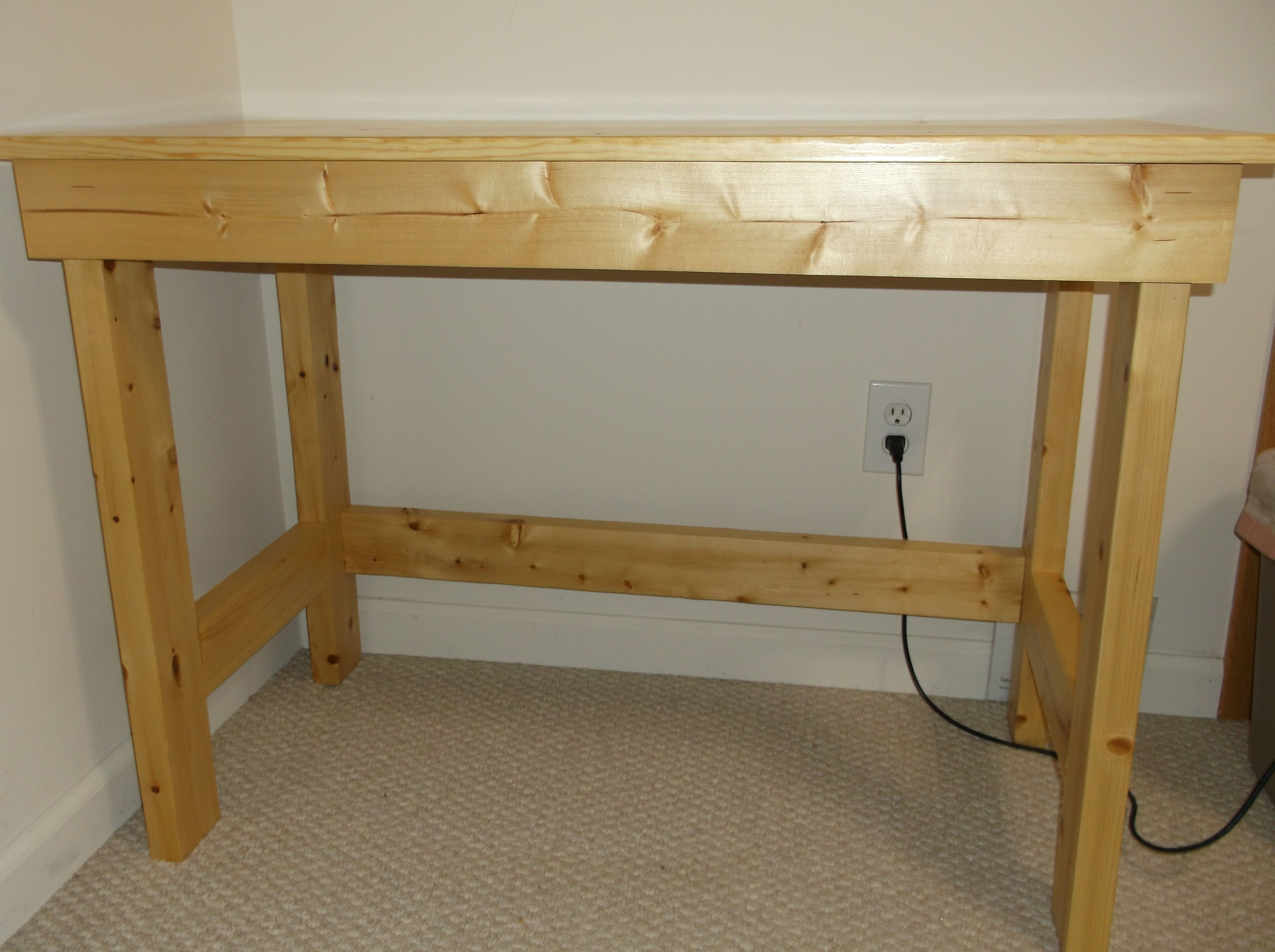 Awesome Easy To Build 2X4 Desk With Glued Up Top Rustic Furniture Download Free Architecture Designs Rallybritishbridgeorg