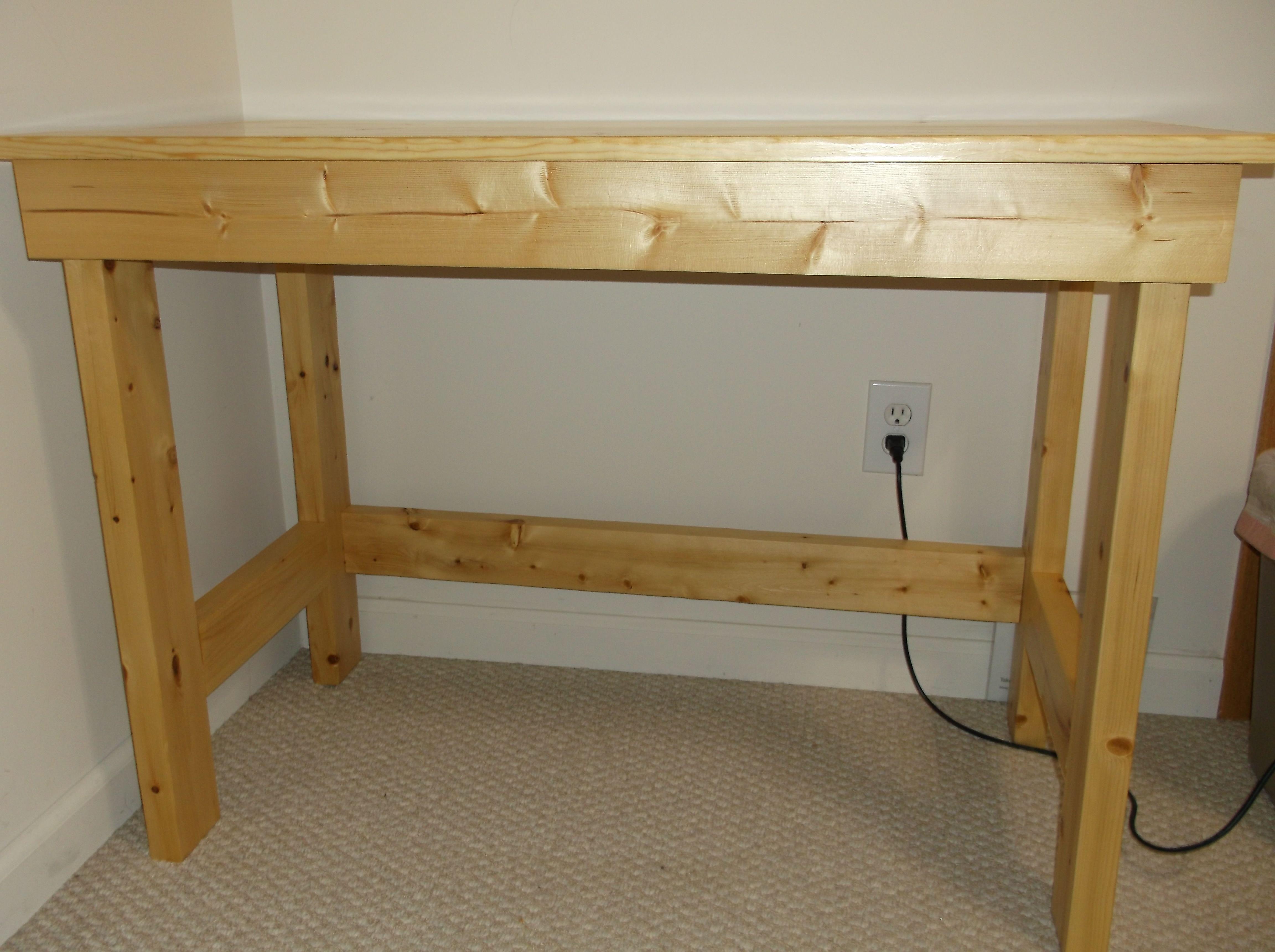 Easy To Build 2x4 Desk With Glued Up Top Desk Furniture Rustic Furniture Furniture
