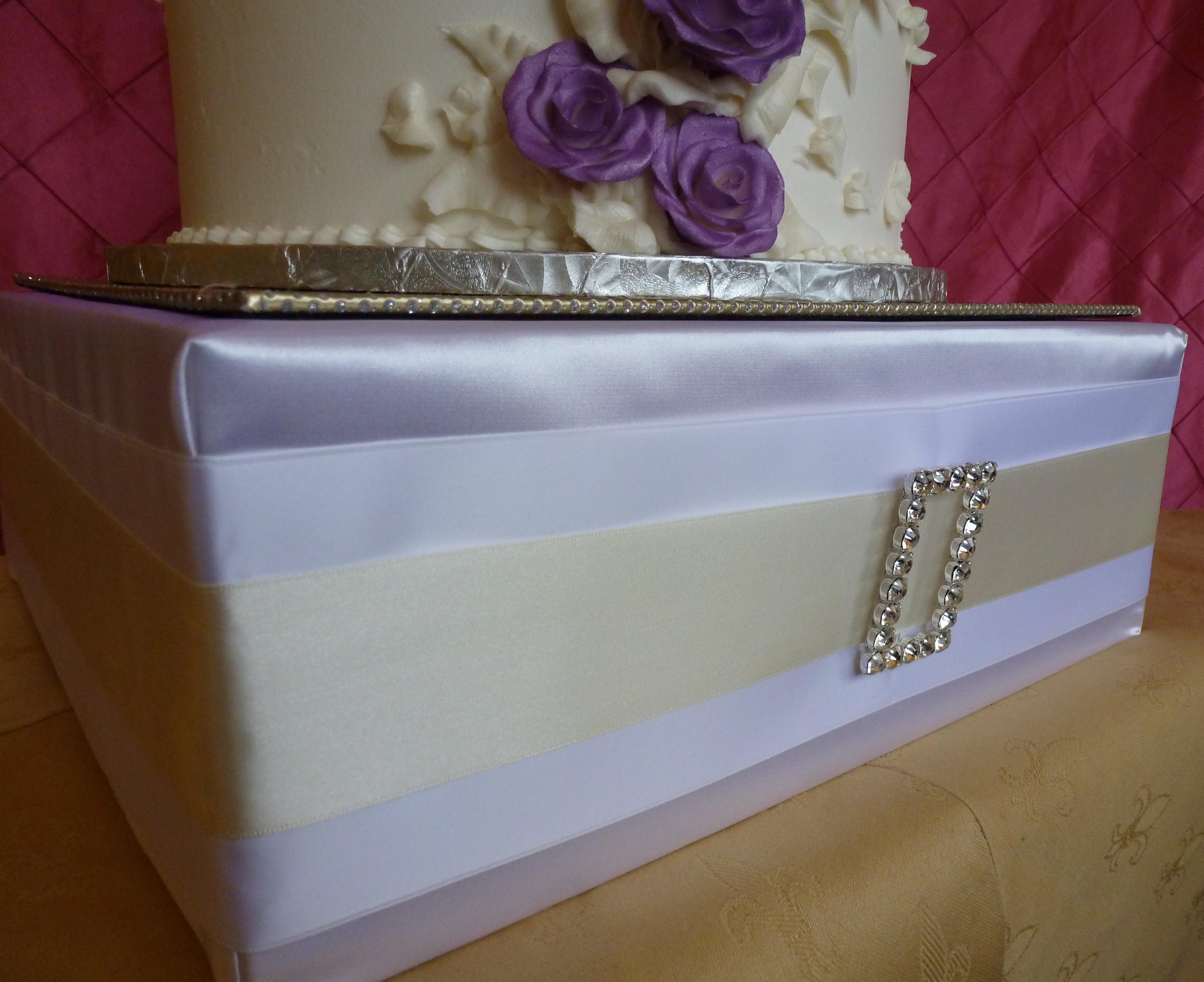 #Bridal #Buckle Debut #Couture #CakeStand #Ivory #White #Satin #Rhinestone by Cake It Up, LLC www.cakeitupcakestands.com