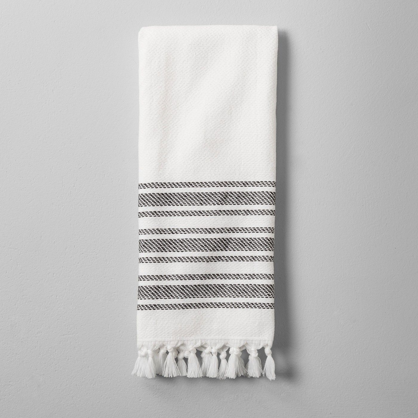 Hand Towel With Tassel Black White Hearth Hand With Magnolia White Bath Towels Hearth Hand With Magnolia Hearth And Hand Target