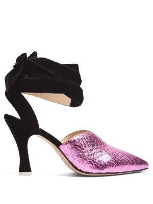 Click here to buy Attico Olivia snakeskin and velvet pumps at MATCHESFASHION.COM