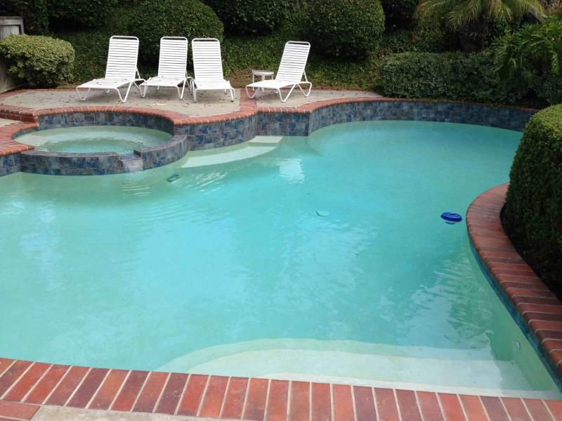 Impressive Aztec Cobalt Pool Tile With White Vinyl Strap Chaise Lounge Also Swimming Pool Red
