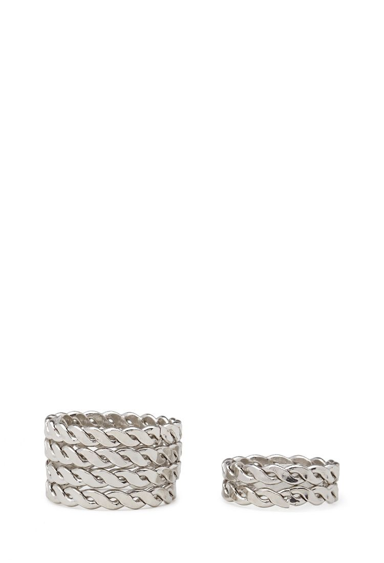Etched Midi Ring Set - Jewellery - 1000060096 - Forever 21 UK