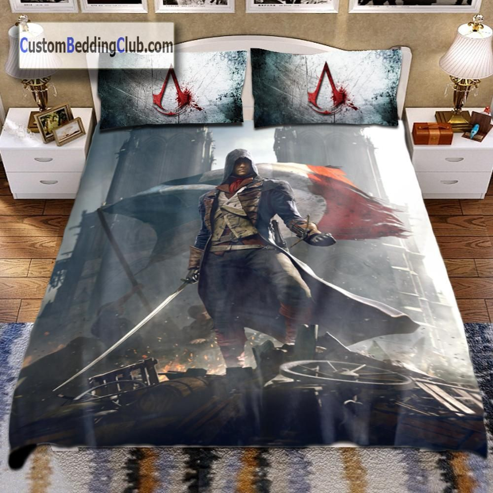 Assassins Creed Bettwäsche Assassin S Creed Unity Blanket Bed Set Sheet Gaming