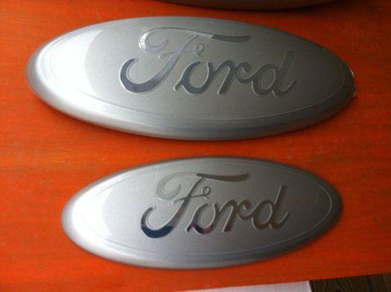 Custom Ford Emblem,Silver & Chrome Logo, 2004-2014 models,F