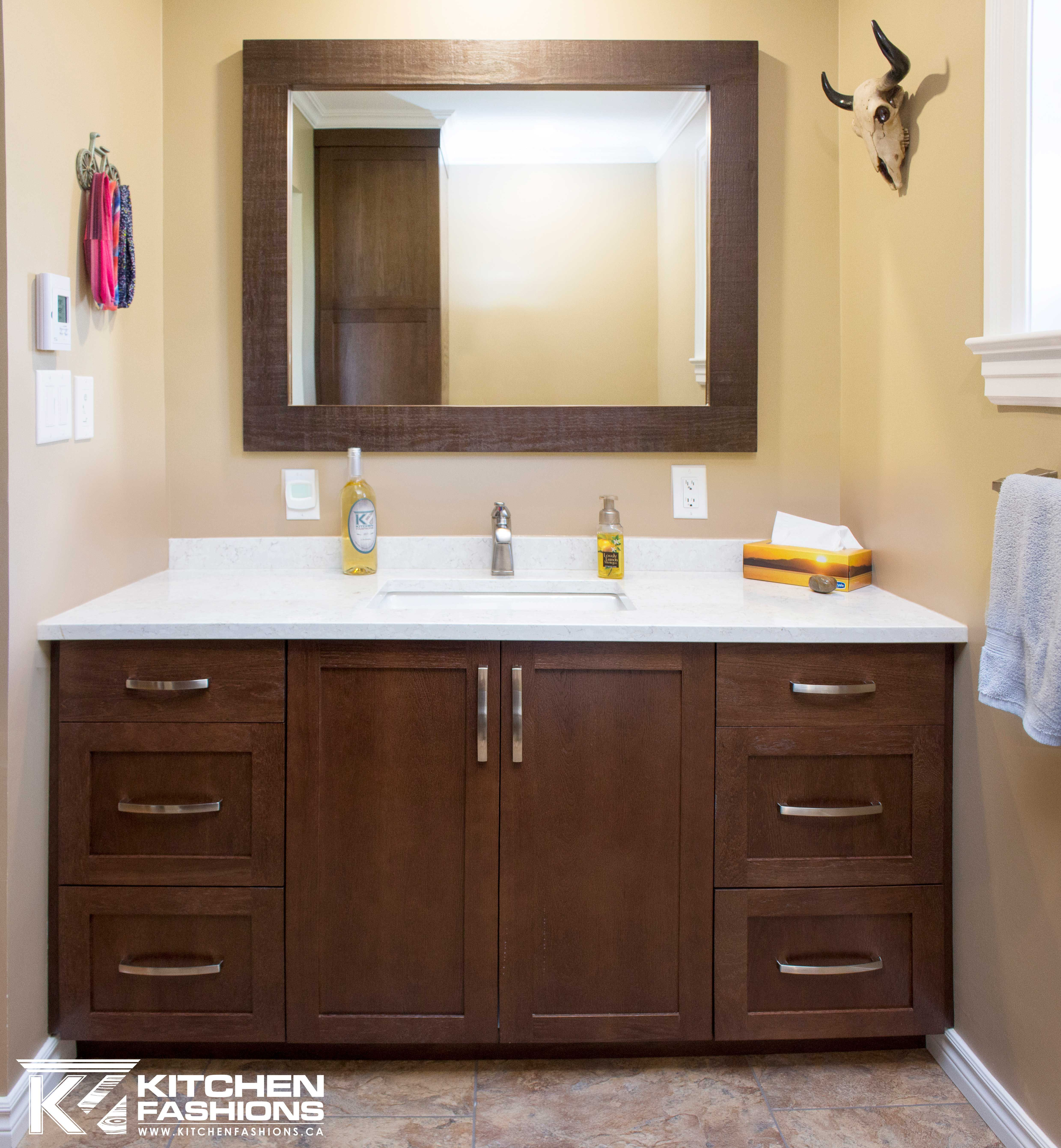 18+ White bathroom cabinets with brown countertops inspiration
