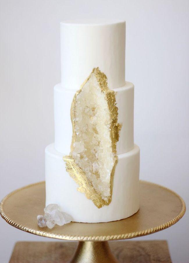 20 Geode Crystal Wedding Cakes