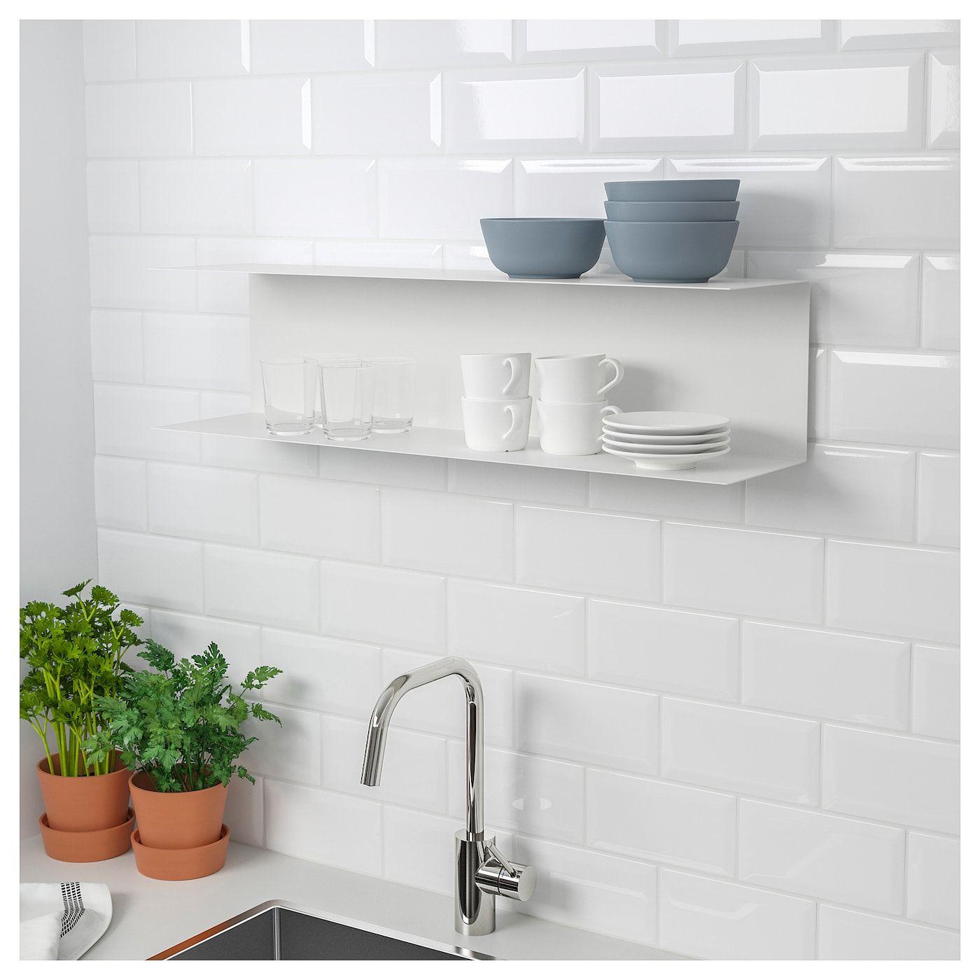 IKEA BOTKYRKA White Wall shelf White wall shelves, Wall