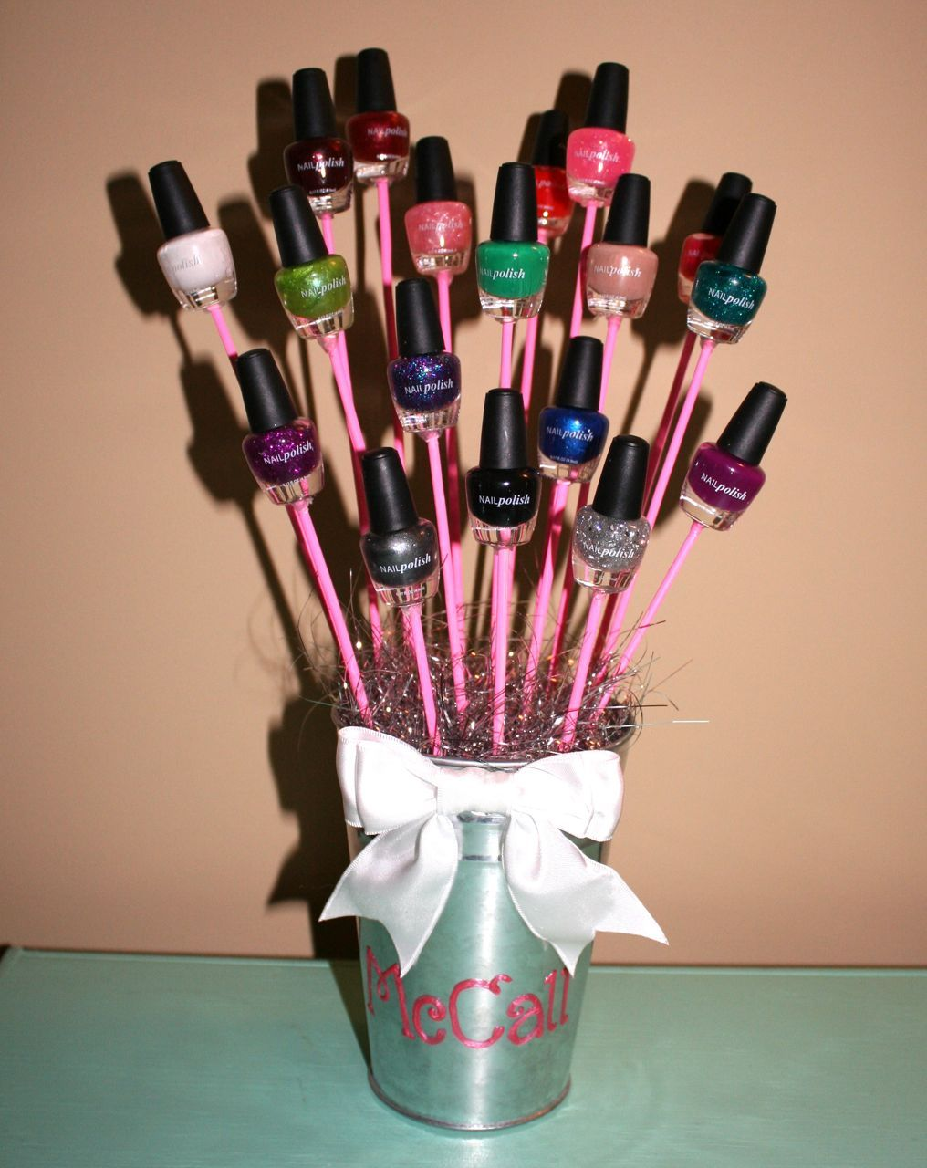 Great Way To Gift Something As Simple Nail Polish I Made This For My Boyfriends Younger Sister She Loved It