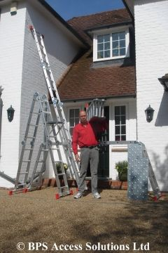 Get Those Blocked Gutters Flowing Again And Order One Of Our Extension Ladders With Free Next Day Delivery Multi Purpose Ladder Ladder Step Ladders