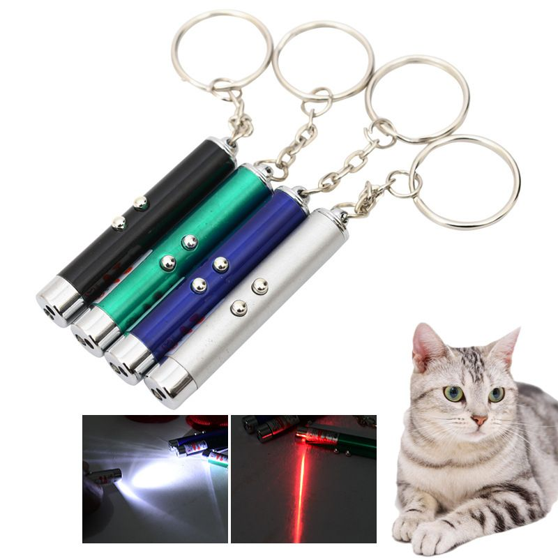 2 in 1 red laser funny cat stick laser pointer pen with
