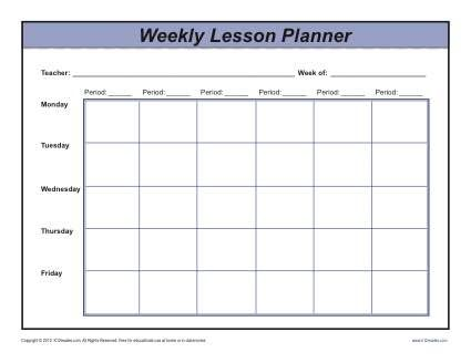 Weekly Multi-Period Lesson Plan Template - Secondary | Lesson plan ...