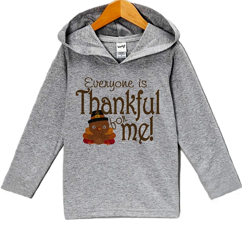7 ate 9 Apparel Boys Thankful for Me Thanksgiving Grey Shirt