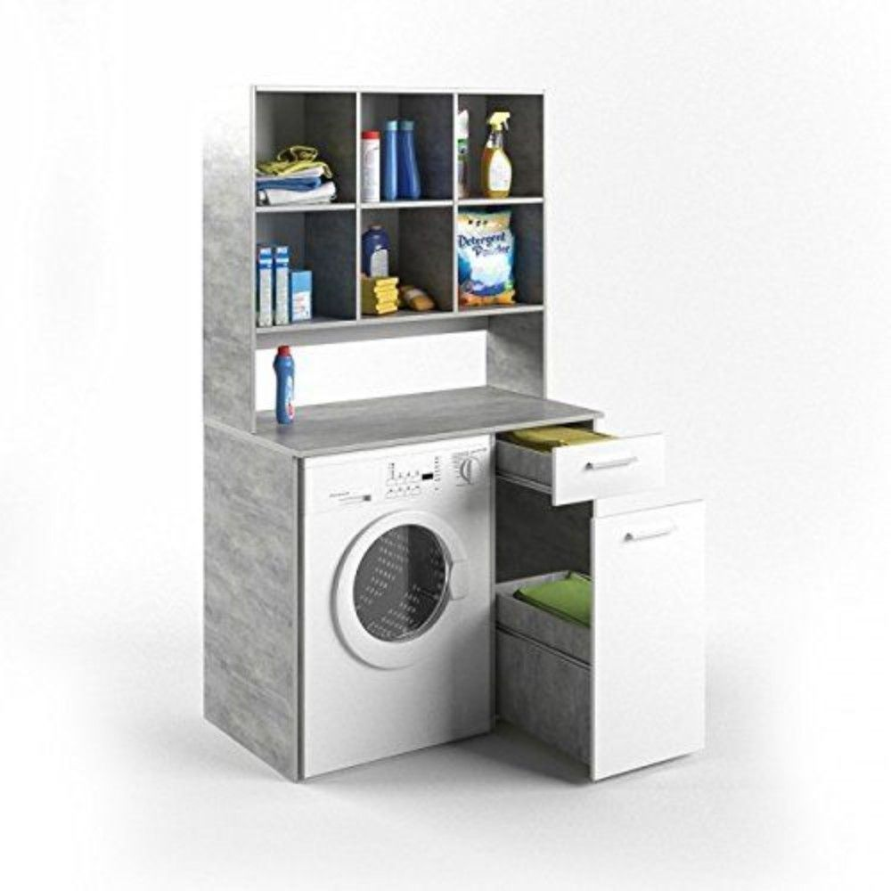 Bathroom Washing Machine Cabinet Cupboard Shelf Storage Unit Laundry Room Grey Cupboard Shelves Washing Machine Laundry Room Design