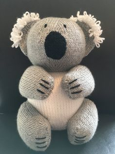 Koala Bear Toy knitting project by Lorna P | LoveKnitting
