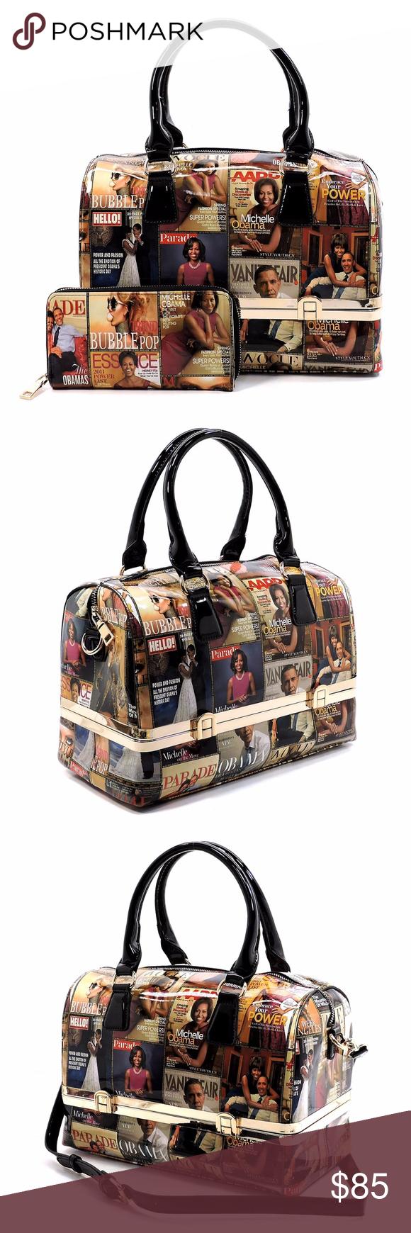 4e1efb87298c Michelle Obama Magazine Boston Bag/Wallet Set Designer inspired ...